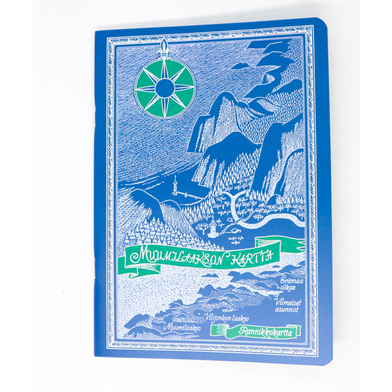 Moomin Softback Notebook Map Over Moominvalley Blue - .
