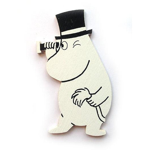 Wooden Magnet Moominpappa With Spyglass - .
