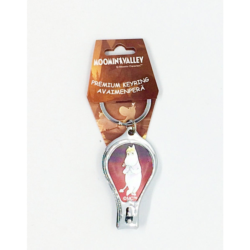 Moomin Metal Keyring, Nail Scissor And Bottle Opener - .