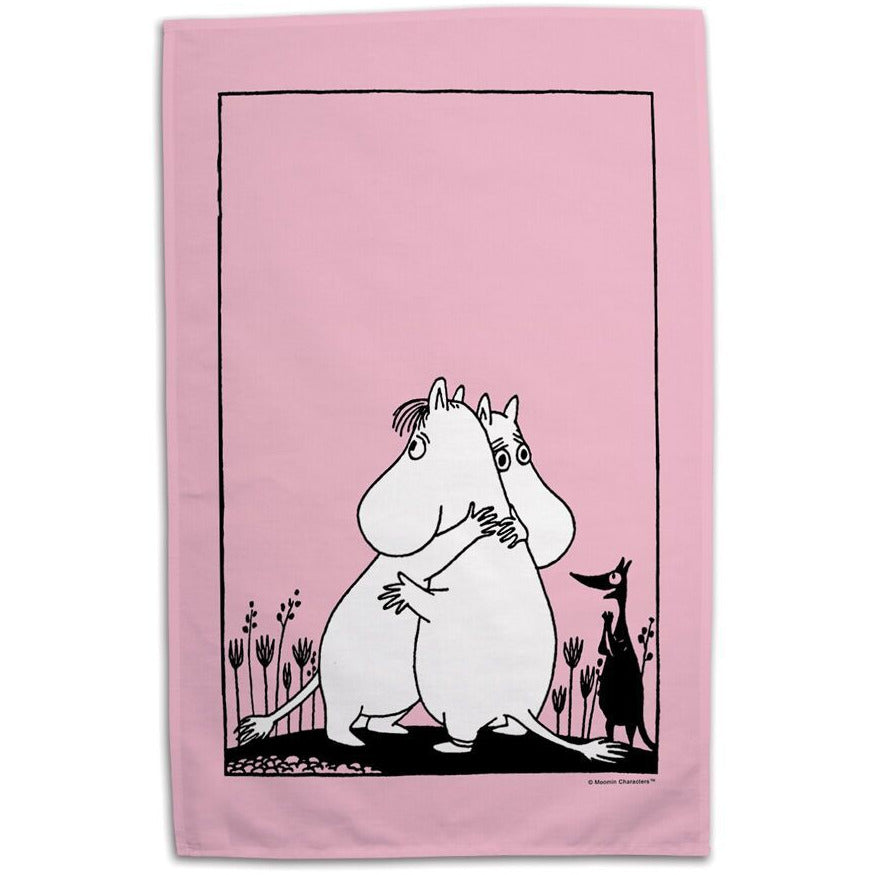 Tea Towel Love Pink - .