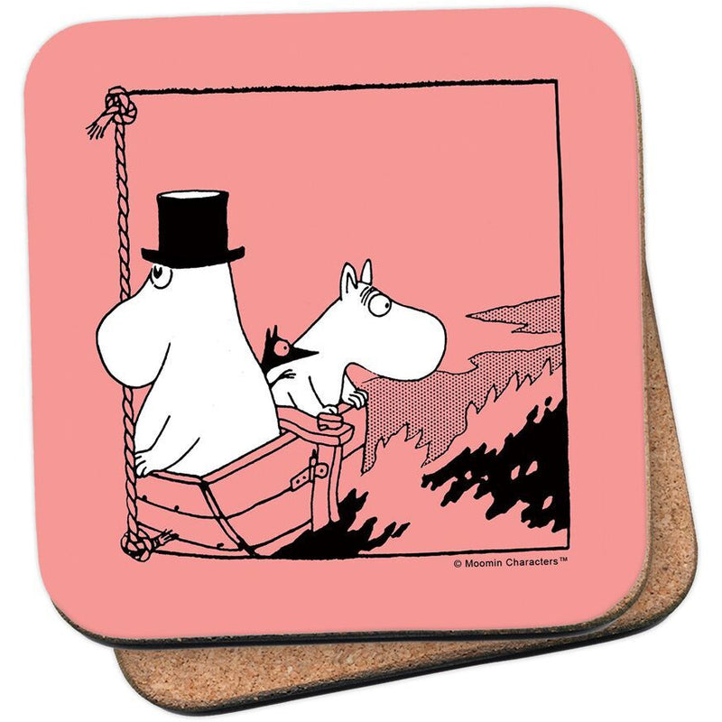 Coaster Moomintroll And Moominpappa In A Boat - .