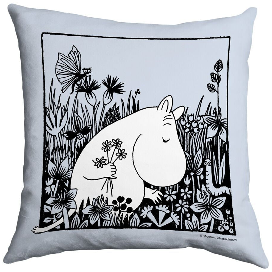Cushion Flowerfield Blue - .
