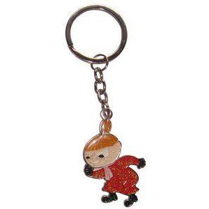 Moomin Metal Keyring Glittery Little My dancing - .