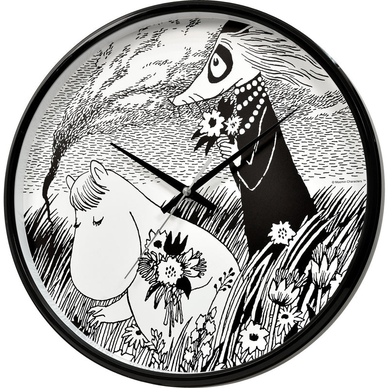 Wall Clock Snorkmaiden in Meadow