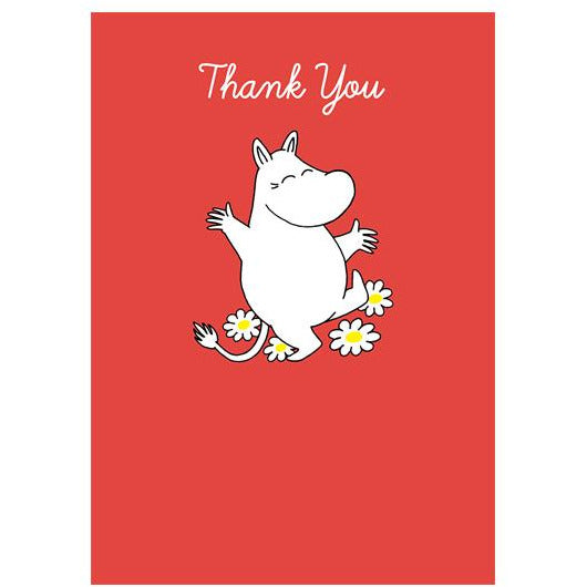 Greeting Card Thank You Moomintroll Dancing - .