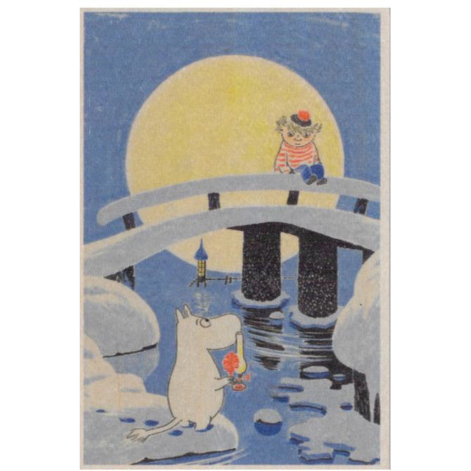 Plywood postcard Moominland Midwinter - .