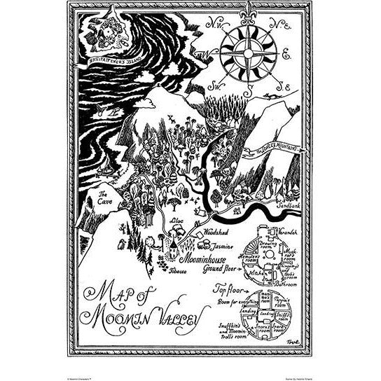 Poster Map Over Moominvalley small - .