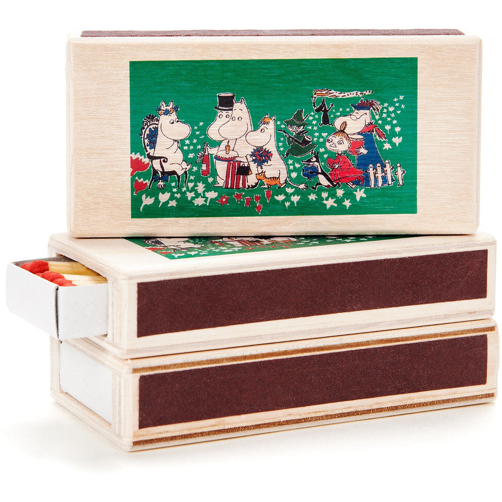 Wooden Match Box Birthday Party Green - .