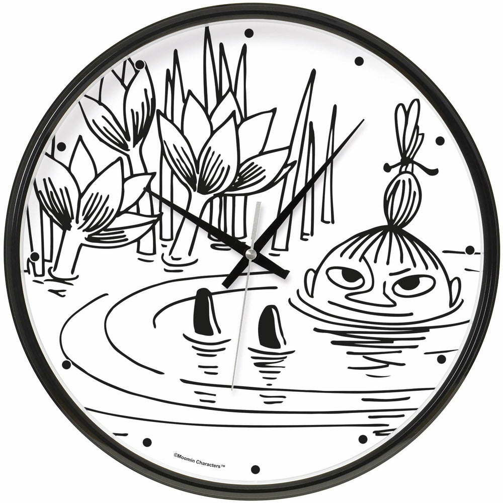 Wall Clock Little My In Pond - .