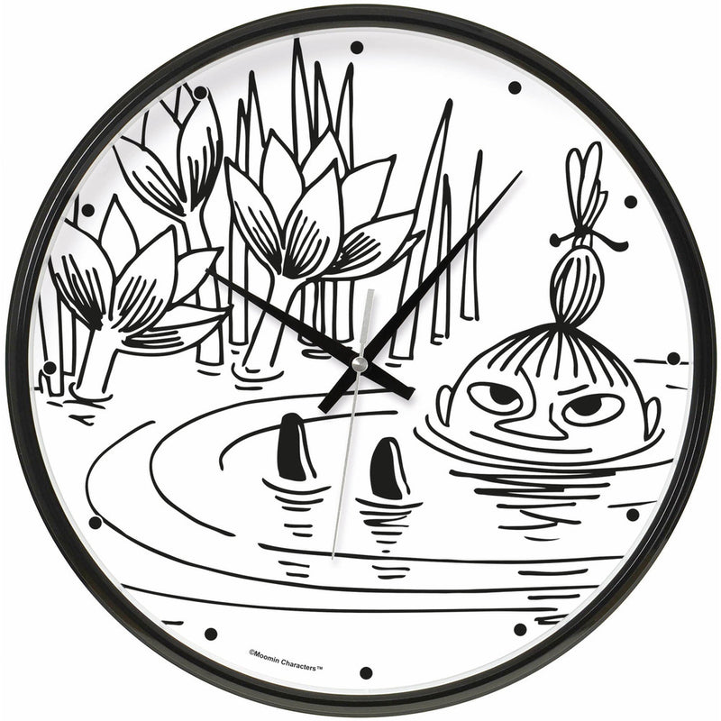 Wall Clock Little My Swimming