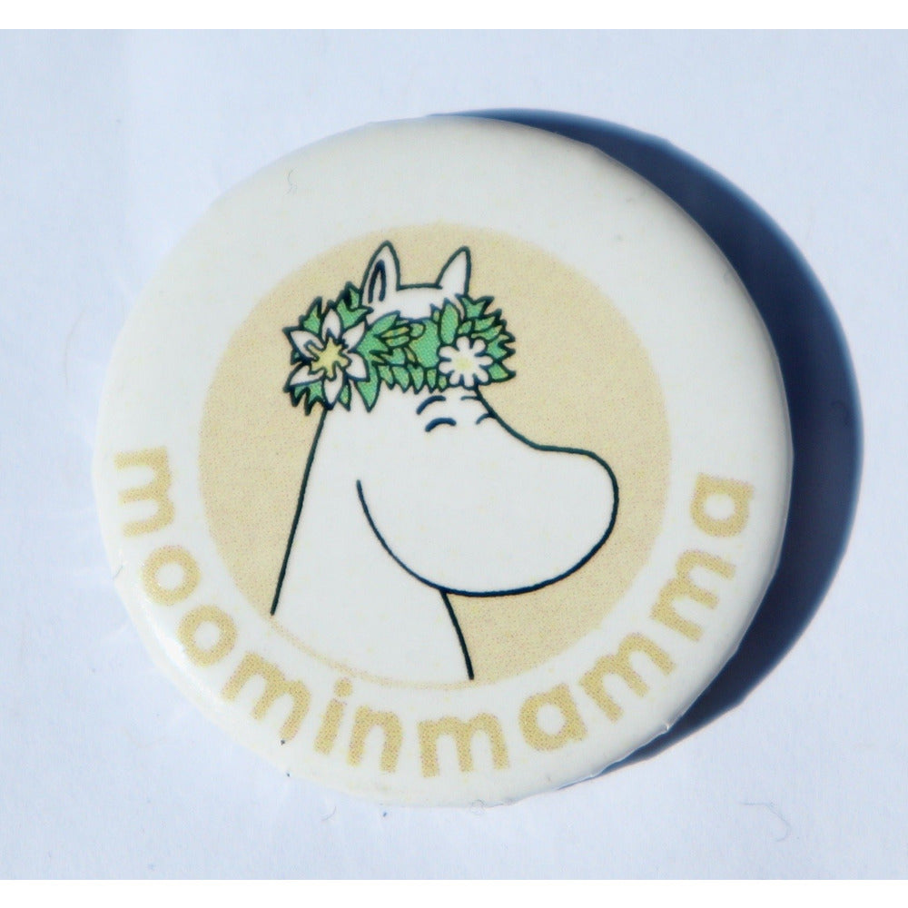 Button Badge Moominmamma Yellow - .