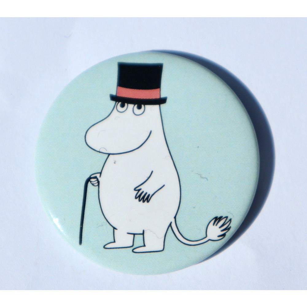 Button Badge Moominpappa Light Blue - .