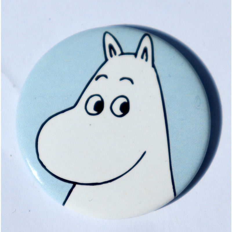 Button Badge Moomintroll Light Blue - .