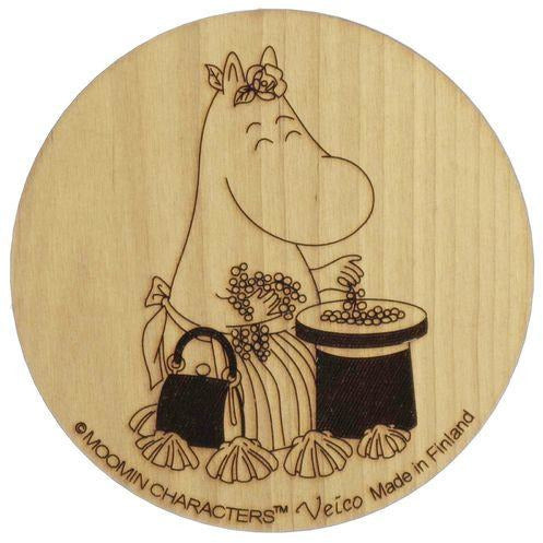 Wooden Coaster Moominmamma Collecting Berries