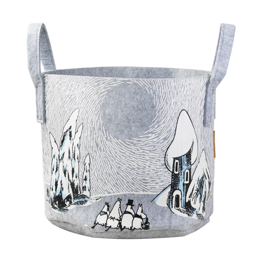 Moomin Storage Basket Snowy Valley