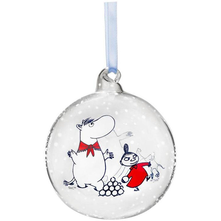 Moomin Winter Time Christmas Decoration Ball Moomintroll and Snorkmaiden