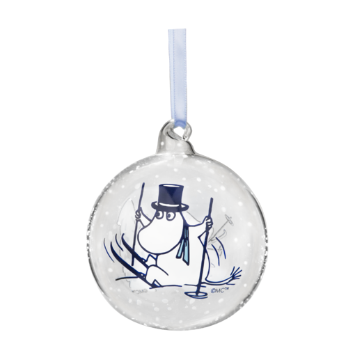 Moomin Winter Time Christmas Decoration Ball Moominpappa And Moominmamma