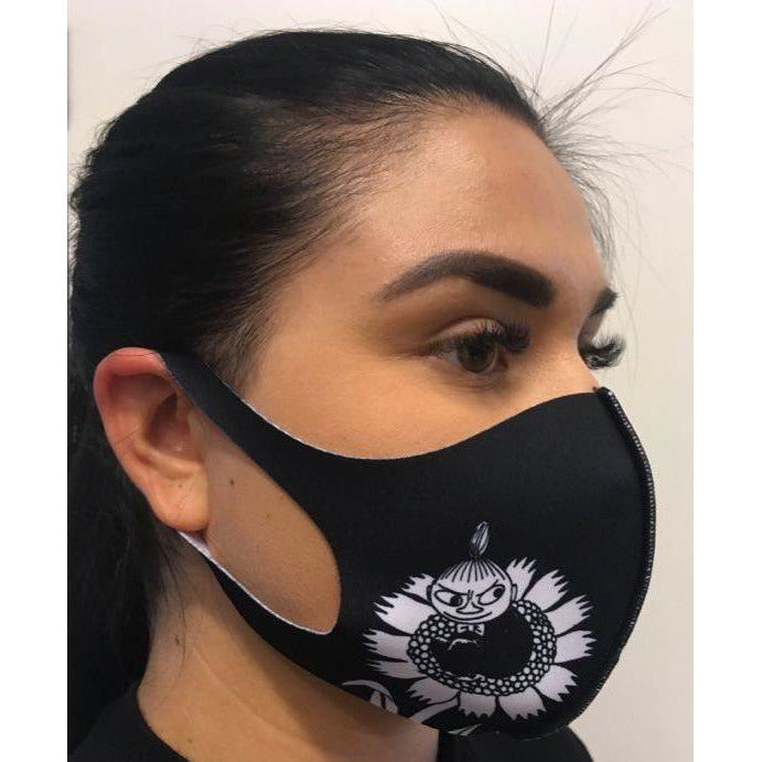 Moomin Face Mask Little My Black M