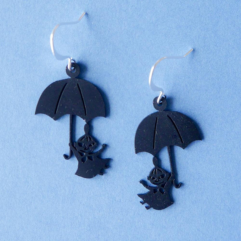 Little My And Umbrella Earrings Black