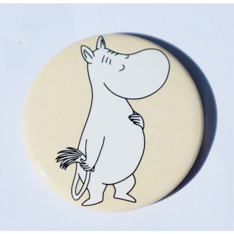 Button Badge  Moomintroll Remarkable Tail Yellow - .