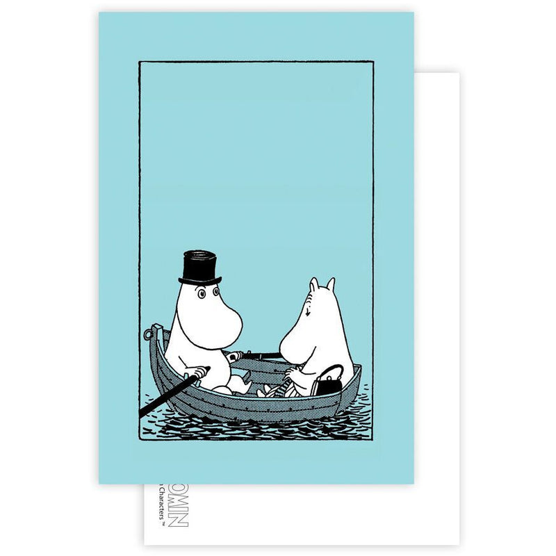 Postcard Moominpappa And Moominmamma In A Boat - .
