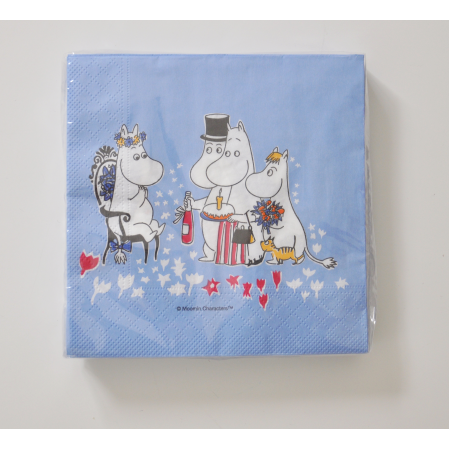 Paper Napkin Moomin Birthday Blue