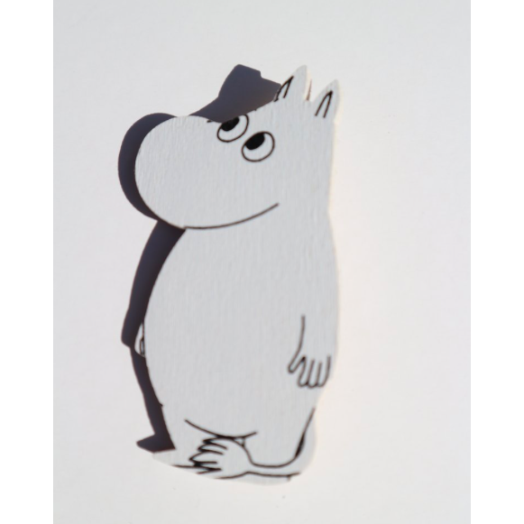Wooden Magnet Moomintroll Looking Right - .