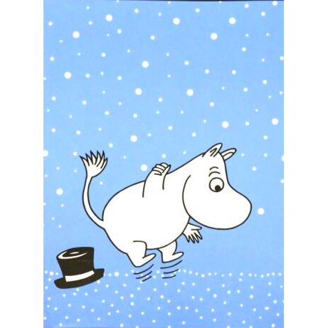 Moomin Sketchbook Moomintroll Blue A4 40 Squared Pages 7x7 mm - .