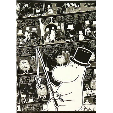 Moomin Sketchbook Moominpappa Fishing A4 40 Squared Pages 7x7 mm - .