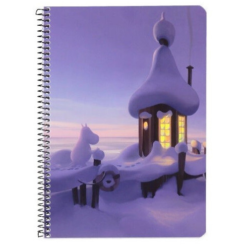 Moomin Spiral Notebook Bathouse A5 80 Squared Pages 7x7 mm - .