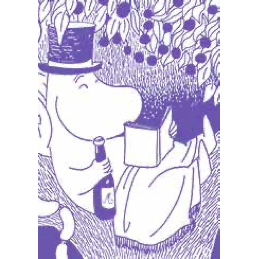 Mini Greeting Card Moominpappa Reading - .