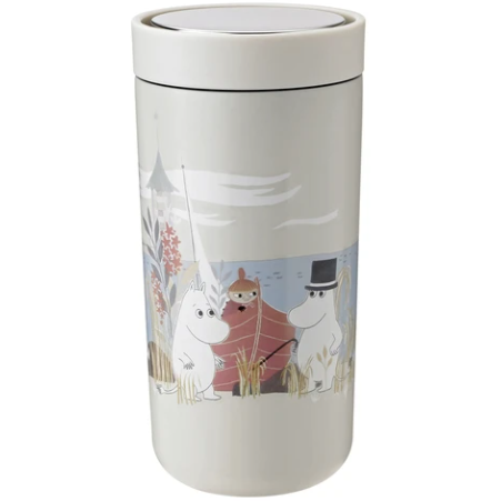 To Go Click Moomin Double-Walled Steel Cup 0.4 L Soft Sand