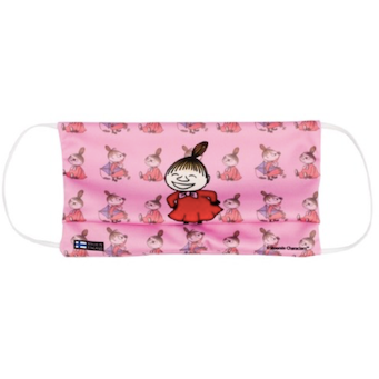 Moomin Face Mask Little My pink