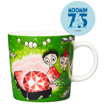 Moomin Mug 75th Anniversary Thingumy and Bob Green