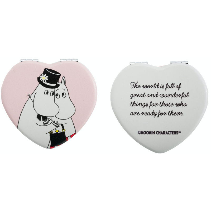 Moominmamma And Moominpappa Heart Pocket Mirror