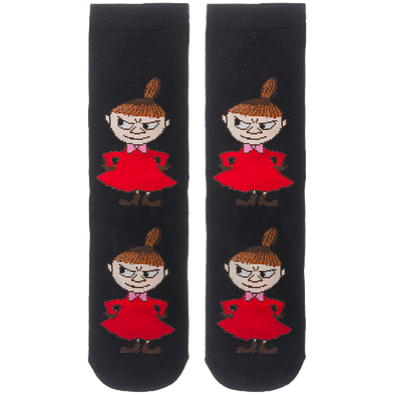 Moomin Socks Little My Pranking Black