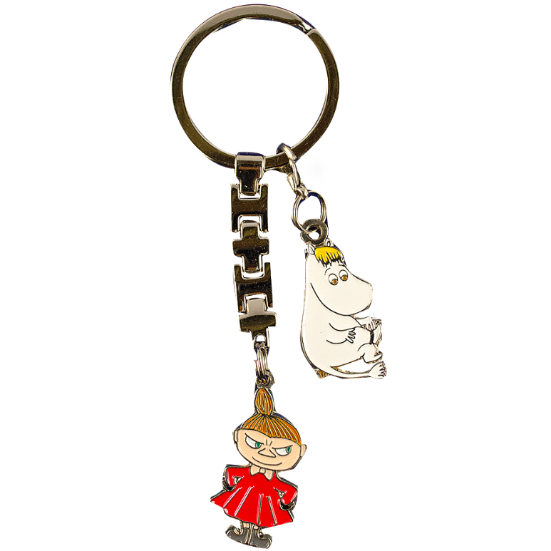 Moomin Metal Keyring Snorkmaiden and Little My - .