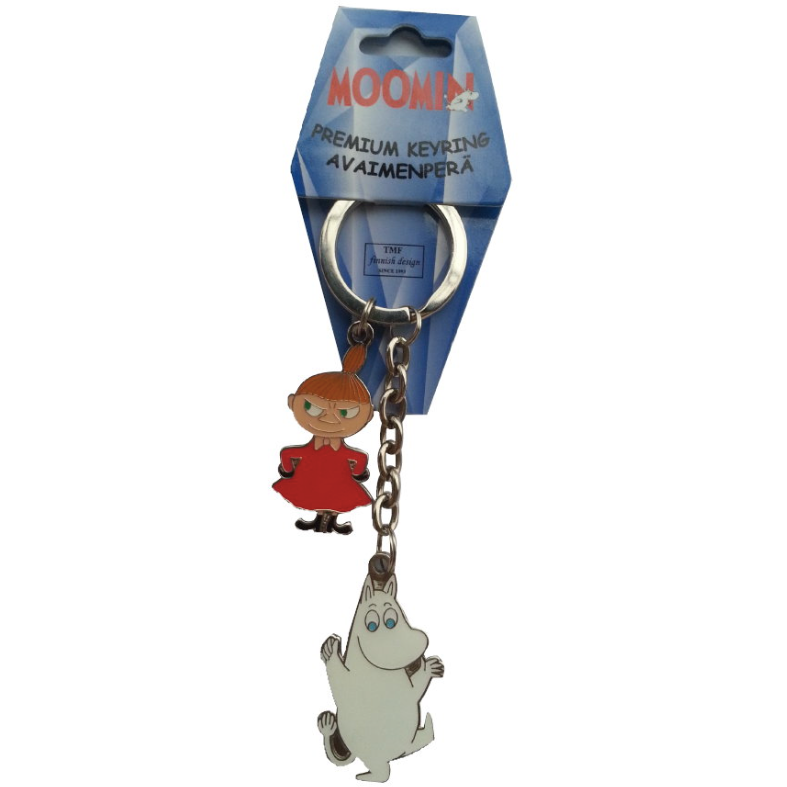 Moomin Metal Keyring Moomintroll And Little My