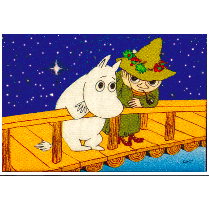 Glittering Magnet Moomintroll And Snufkin - .