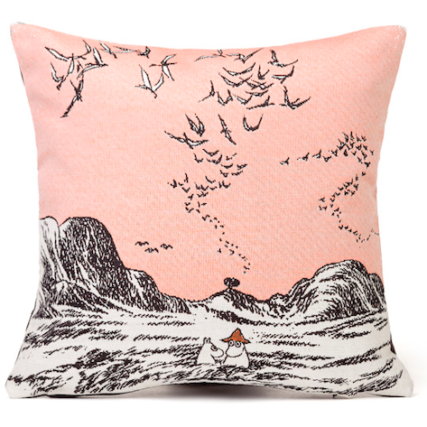 Gobelin Cushion Cover Moomins In Sea Pink - .