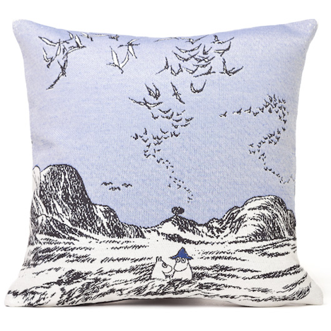 Gobelin Cushion Cover Moomins In Sea Blue - .