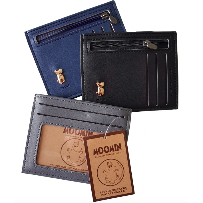 Moomin Pocket Wallet Black - .
