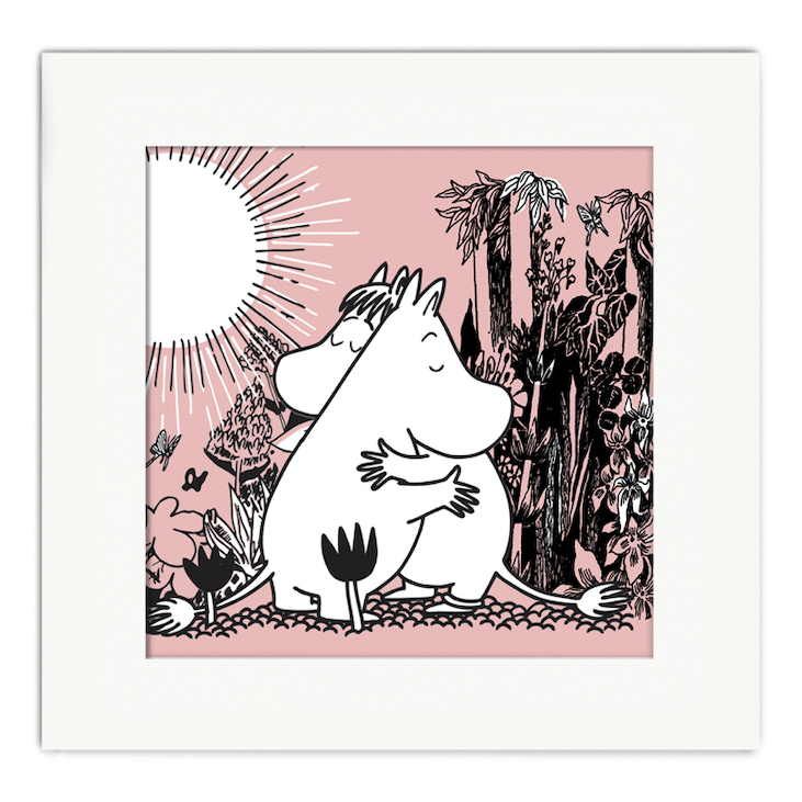 Moomin Love Mounted Print - .