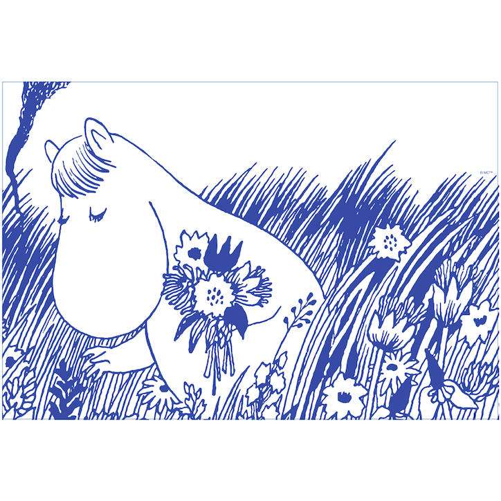 Moomin Placemat Snorkmaiden Blue - .