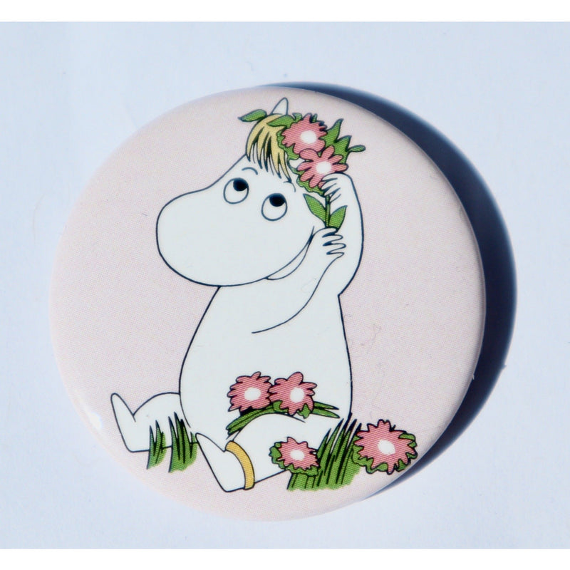 Button Badge Snorkmaiden With Flower Crown - .