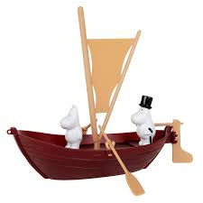 Moominpappa's Sailing Boat With Two Figures