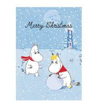 Moomin Christmas Card Moomintroll And Snorkmaiden - .