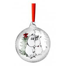 Moomin Winter Magic Christmas Decoration Ball Snorkmaiden And Moomintroll - .