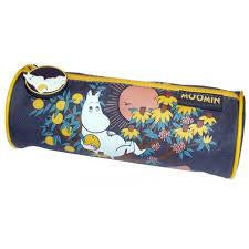 Canvas pencil case round - .