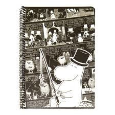 Moomin Spiral Notebook Comics Moominpappa A5 80 Squared Pages 7x7 mm